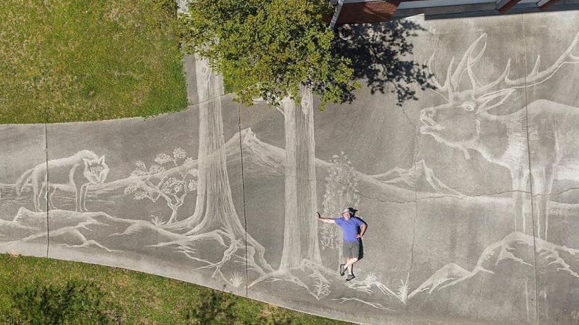 نقاشی حیرت انگیز و بی نظیر یک هنرمند خلاق با آب