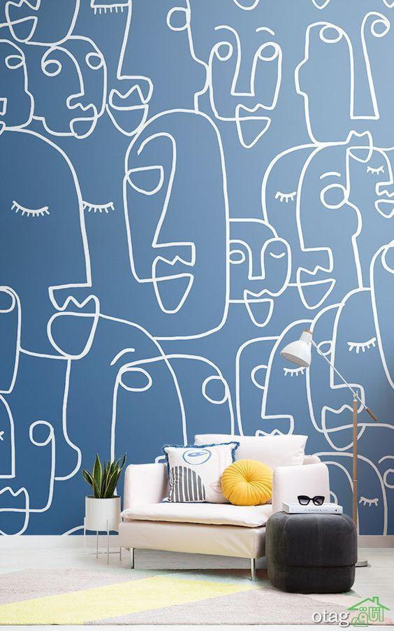 مدل های بسیار جدید و شیک کاغذ دیواری مدرن