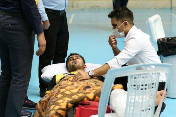 تصاویری از مصدومیت شدید ملی پوش والیبال ایران در لیگ برتر