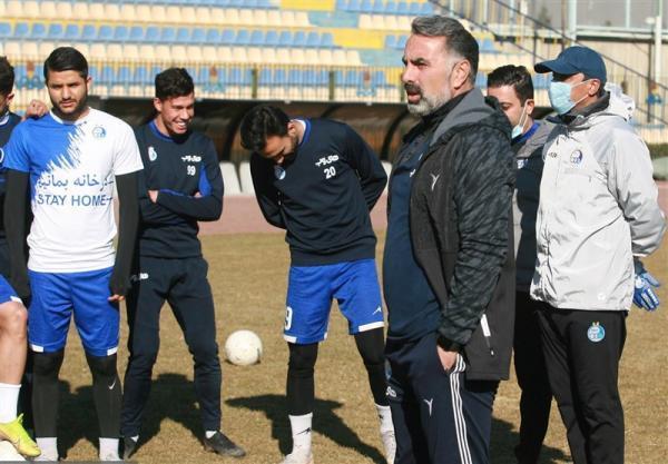 گزارش تمرین استقلال، ادای احترام فکری و بازیکنان به انصاریان، حضور پاشازاده