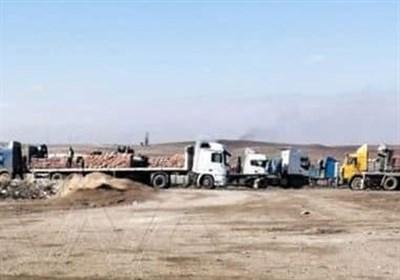 آمریکا 18 کامیون گندم سوریه را به سرقت برد