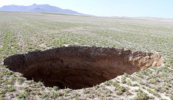 ایجاد حفره های عظیم به سبب خشکسالی در ترکیه