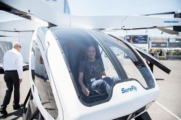 اولین پرواز تاکسی پرنده در فرانسه